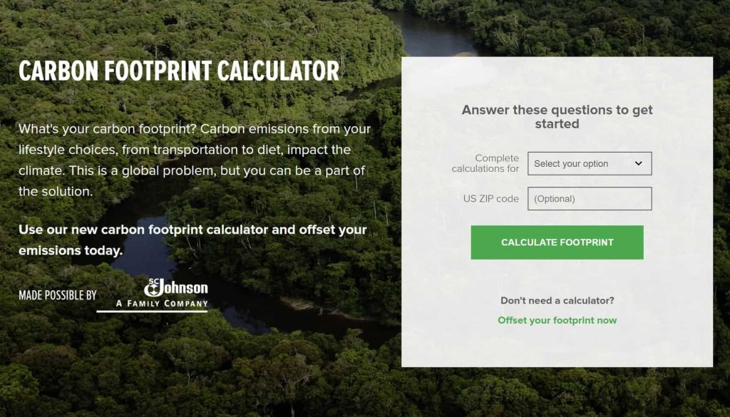 Conservation International Carbon Footprint Calculator